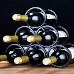 Casier à vin empilable à 3 niveaux - Casiers à vin de style classique for bouteilles - Parfait for le bar à cave à vin Cave à garde-manger, for 12 bouteilles, en métal : tests et étude