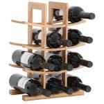 Consultez Gräfenstayn® 30551 casier à vin PORTO - empilable en bois de bambou pour 12 bouteilles de vin - Taille 30x16x42 cm (LxPxH) Porte-bouteille de vin casier à bouteilles
