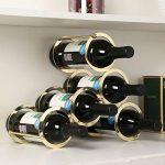 Consultez Himamk Cave à vin modulable, Étagère à Bouteille, Casier à Bouteille, Range Bouteille, Porte Bouteille 5 Bouteilles de vin 32cm,Yellow