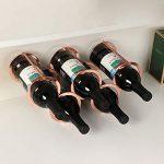 Himamk Cave à vin modulable, Étagère à Bouteille, Casier à Bouteille, Range Bouteille, Porte Bouteille 5 Bouteilles de vin 0.58kg,Brown : Mise à l'épreuve et avis
