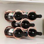 Himamk Cave à vin modulable, Étagère à Bouteille, Casier à Bouteille, Range Bouteille, Porte Bouteille 5 Bouteilles de vin 9.64inch,Brown : tests et étude