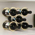 Mise en situation de Himamk Cave à vin modulable, Étagère à Bouteille, Casier à Bouteille, Range Bouteille, Porte Bouteille 5 Bouteilles de vin 9.64inch,Gold :