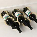 Himamk Cave à vin modulable, Étagère à Bouteille, Casier à Bouteille, Range Bouteille, Porte Bouteille 5 Bouteilles de vin 0.58kg,Gold : tests et étude