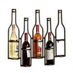 Hyl Étagère à vin Porte-Verres Metal Fixation Murale Porte-Bouteilles Support Bouteilles Autoportant Joli Bar à vin Cave Cabinet sous-cellier Cuisine pouvant contenir Jusqu à 5 Bouteilles,Noir : tests et étude