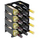 Découvrez Porte-Bouteilles de vin en métal Plafond Mural | Porte-Verre à vin avec Spotlights Suspendu | Casier à vin Porte-vin bouée | Support à Verres à vin | Support de étagère pour Cave Cuisine Bar