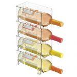 mDesign Range-Bouteilles en Plastique – Support pour Bouteilles empilable et modulable pour Stockage de 4 Bouteilles de vin et d'Eau – aménagement Pratique de la Cuisine – Couleur : Transparent : ce qu'il faut apprendre.