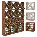 Mise en situation de Système d'étagère à vin CUBE 50 tobacco module 4 standard - H50 x L50 x P25 cm :