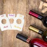 Simulation Home Optimal Lot de 100 étiquettes Vierges pour goulot de Bouteille de vin - Adapté à Tous Les Types de goulots :