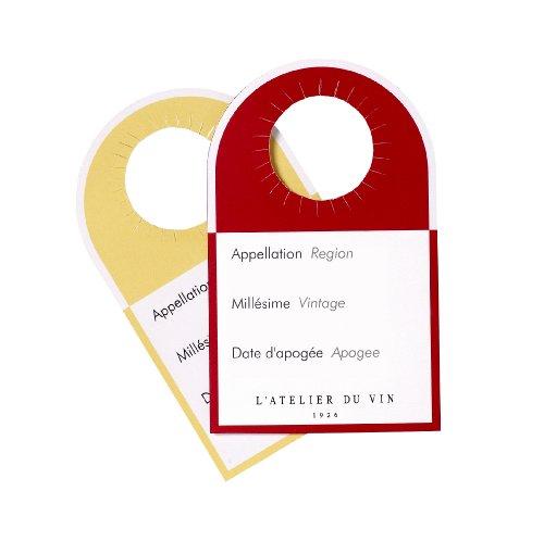 Notre top  L'ATELIER DU VIN – Étiquettes-Témoins – Différenciez vos Vins d'un Coup D'œil – 40 Étiquettes