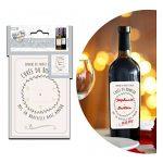 Nous avons testé Les Trésors De Lily P9901 - Set de 12 étiquettes vin 'Cuvée du Bonheur' (spécial mariage) - 25x16.5 cm :