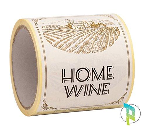 Classement des Palucart 100étiquettes pour bouteilles de vin maison Motif Champ 9x 12cm