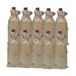 15 sacs kraft pour bouteille de vin avec étiquette de fermeture : Mise à l'épreuve et étude