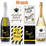 Consultez Zonon 40 Pièces Étiquettes Autocollantes de Vin de Graduation Autocollants de Bouteille de Graduation Étiquettes de Bouteille de Bière pour Fournitures de Fête de Graduation, 4 Styles