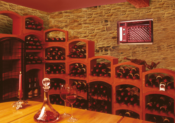 range bouteille vin mural